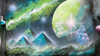 Great Green Pyramids  - SPRAY PAINT ART by Skech