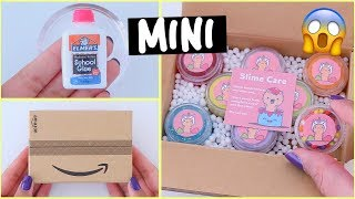 UNBOXING THE WORLD'S SMALLEST SLIME PACKAGE! *making miniature slime*