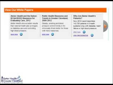 Analyses and Reports Available at Better Health's Data Site