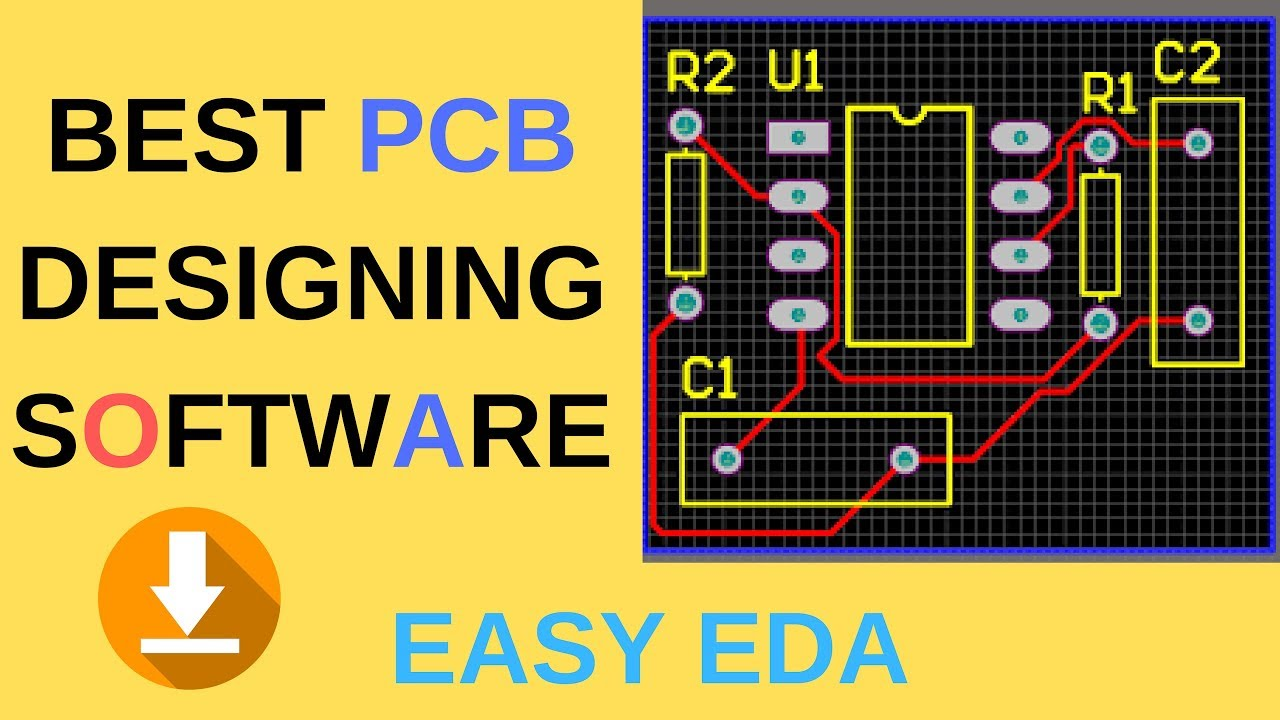 BEST PCB DESIGNING SOFTWARE FREE DOWNLOAD FREE PCB LAYOUT | PRINTED CIRCUIT  BOARD WITH EASY EDA👍
