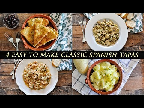 4 Classic SPANISH TAPAS that will BLOW YOU AWAY