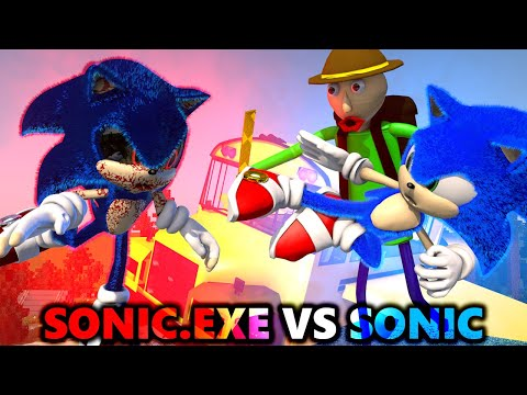 SONIC.EXE vs SONIC THE HEDGEHOG CHALLENGE Ft. BALDI'S BASICS (official) Minecraft Horror Animation