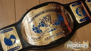 Real WWE Oval Intercontinental Championship Title Belt Review!