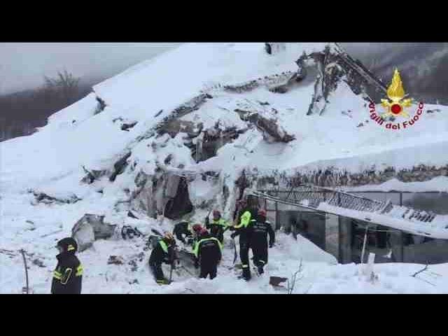 El milagro del hotel sepultado en Italia: ya hay nueve rescatados
