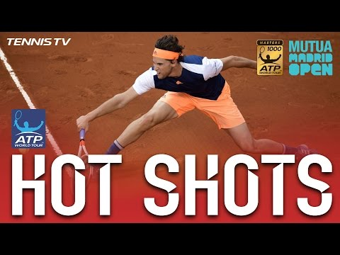 Thiem Lands Gorgeous Volley Hot Shot In Madrid 2017 Final