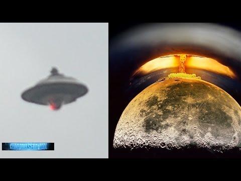NASA ALIEN UFO War BEGINS! Moon Nuclear Blast! Napa Valley HD Video Flying Saucer 11/7/2016