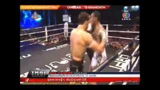 THAI FIGHT Pattani-ANTOINE Pinto Vs Dorian Price USA-Complete Fight with Entrance