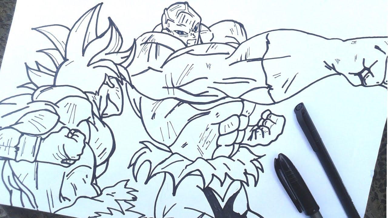 Dibujos Para Colorear De Goku Vs Jiren Resultado De Imagen Para Goku
