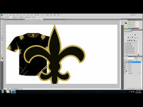 NEW ORLEANS NOLA TSHIRT DESIGN SPEEDART VIDEO
