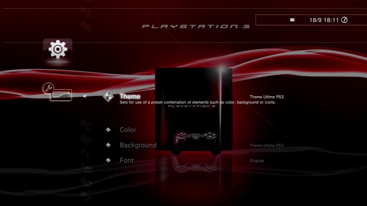 Original Fat PS3 [RED] - XMB Custom Theme