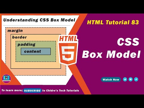 HTML Video Tutorial - 83 - Introduction To Css Box Model