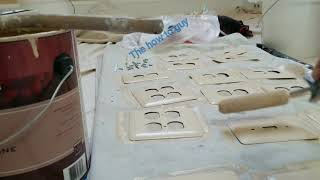 How to paint a switch plates and outletplates