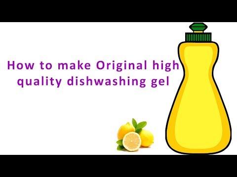 Dishwashing Liquid Gel Making Formula