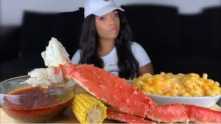 KING CRAB MUKBANG & MAC & CHEESE