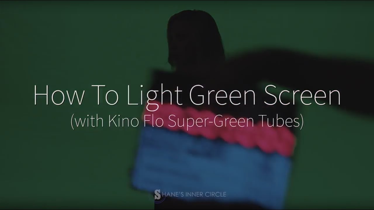 teaser how to light a green screen with kino flo super green