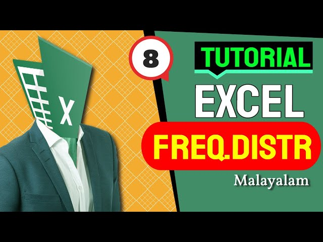 Excel Frequency Distribution table in Malayalam