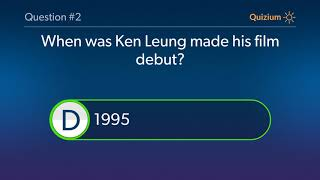 Ken Leung Quiz   When was Ken Leung made his Television debut? and more questions