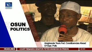 Aregbesola Tours Fed Constituencies Ahead Of Sept Polls Pt 3 | News@10 | thumbnail