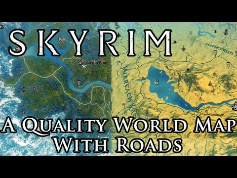 Skyrim Map Mod Skyrim Mod: A Quality World Map   With Roads   UI   YouTube