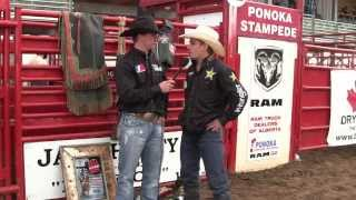 Ted Stovin talks to Chase Outlaw about his 11th Annual Jace Harty Memorial Bull Riding Win