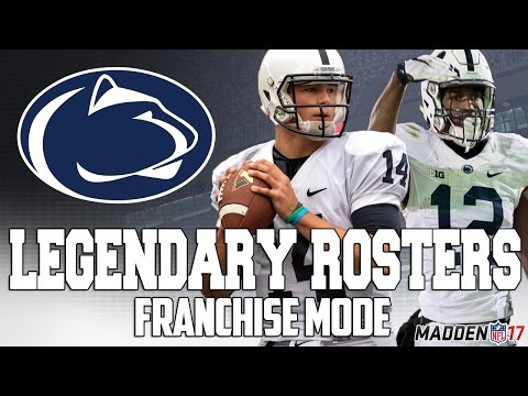 Legendary Penn State Roster | Madden 17 Connected Franchise | Franco Harris + Jack Ham