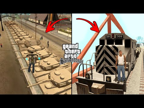 Can 100 Tanks Stop The Train In GTA San Andreas? (Experiment)