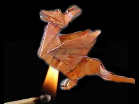 origami on fire: Wyvern