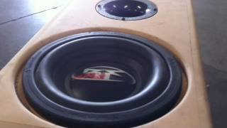 Classic Woofer Excursion! - Rockford Fosgate HX2 10 beatin' in the Tercel