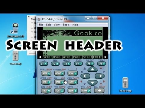 HP calculators - Screen Header - Gaak