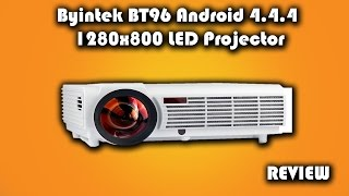 BYINTEK BT96 Android 4.4.4 1280x800 LED Projector Review
