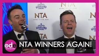 """NTAs 2020: Ant and Dec want to win """"Rear of the Year""""!"""