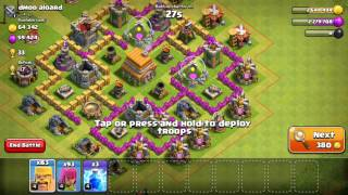 CLASH OF CLANS FINALLY HOGS TO LEVEL 2