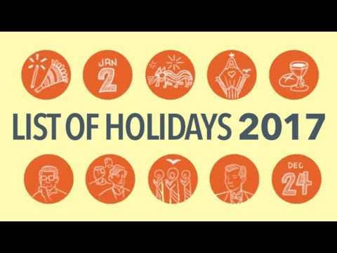 LIST: 2017 Philippine Holidays, Plan your holidays in advance