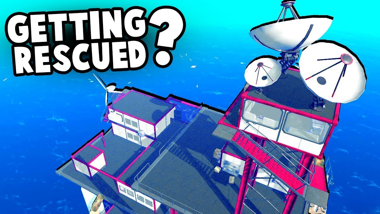 Raft the ENDING!? Secret Radio Tower - What is UTOPIA!? (Raft Survival 2018  Gameplay - The End?)