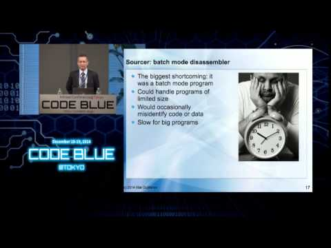 CODE BLUE 2014 : Ilfak Guilfanov - Keynote : The story of IDA Pro