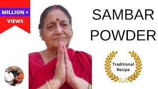 Sambar Powder recipe in Tamil