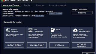 serial AVG Internet Security 2015  For 2018