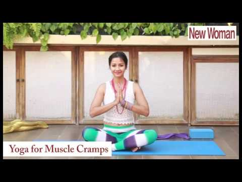 4 yoga poses for muscle cramps  youtube