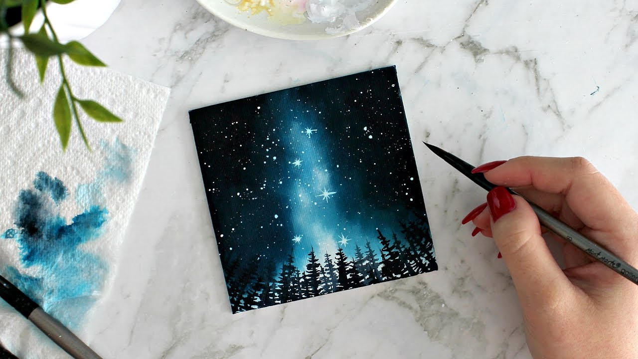 A Quick Canvas Painting