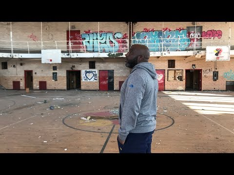 Encounter With An Unexpected Visitor While Exploring the Abandoned Cooley High School In Detroit