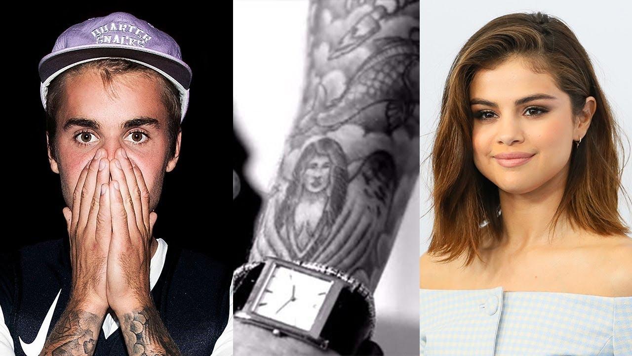 Justin Bieber Still Has Selena Gomez Tattoo Youtube