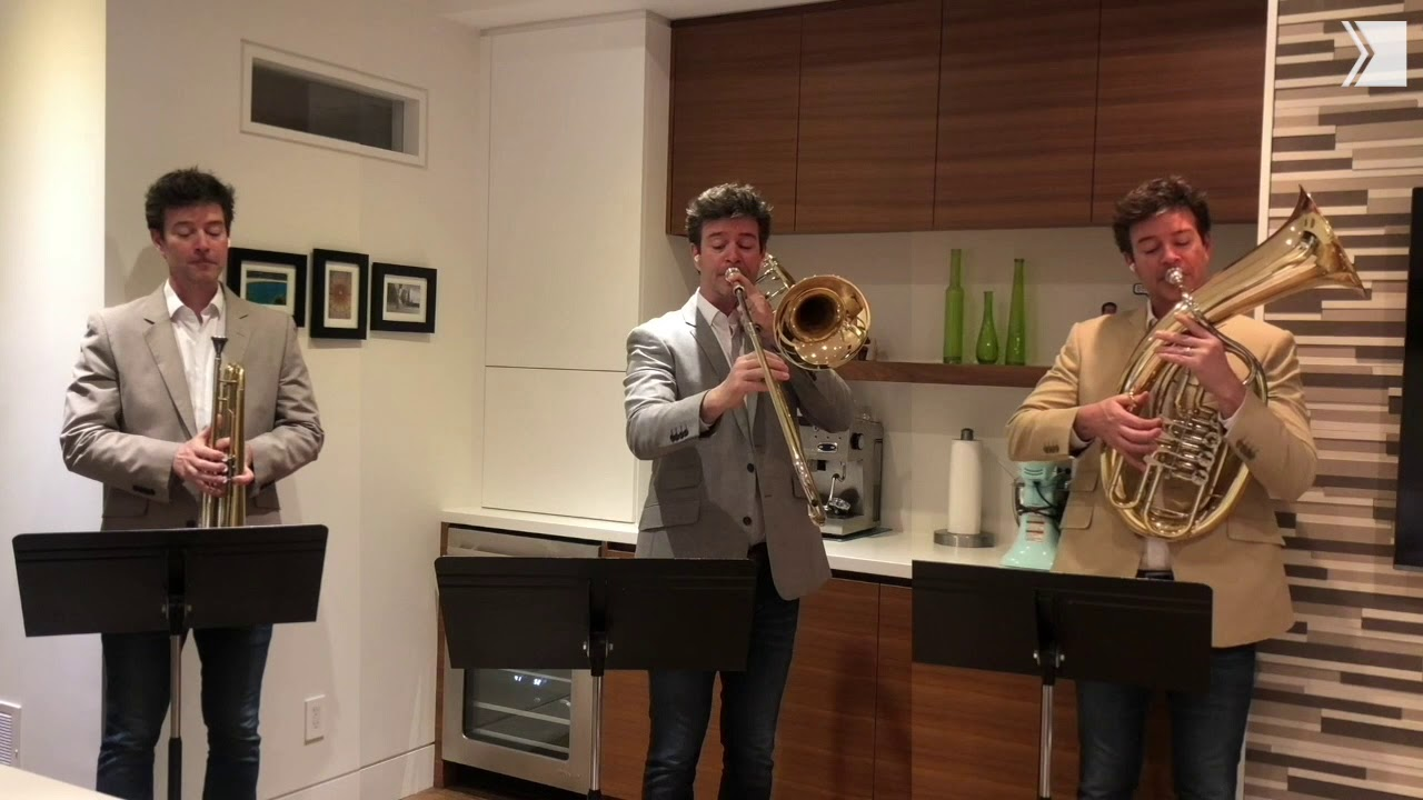 Gordon Wolfe, Principal Trombone for the TSO performs with himself for this week's musical moment
