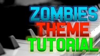Call of Duty Zombies Theme Piano Tutorial *EASY Damned Piano Tutorial, Black Ops Zombies Theme