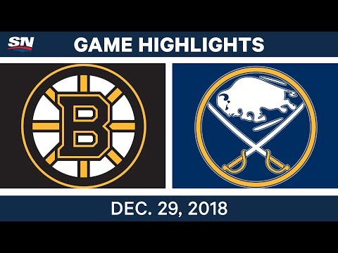 NHL Highlights | Bruins vs. Sabres - Dec 29, 2018
