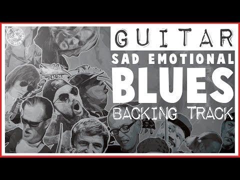 Sad Emotional Blues Backing Track in Am