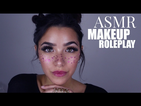 ASMR Doing Your Makeup (Personal attention, Cottons, Cream sounds, Face Brushing, Face Touching...)