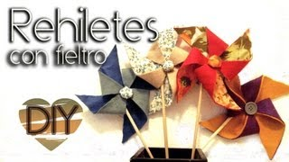 Diy: Rehiletes Con Fieltro / Pinwheel Made With Felt♥