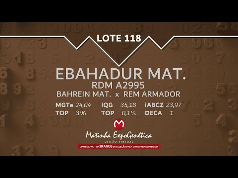 LOTE 118 MATINHA EXPOGENÉTICA 2021