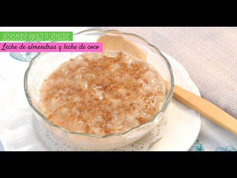 Arroz con leche de almendras y leche de coco (vegano)