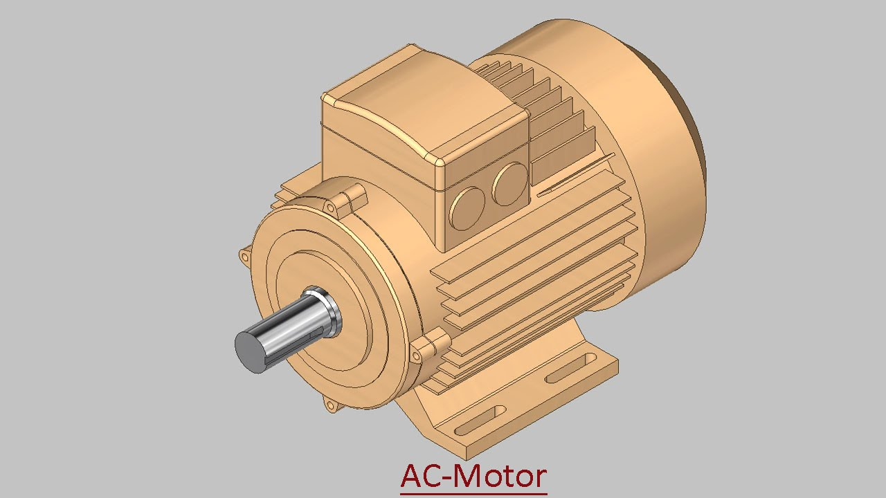AC-Motor (Video Tutorial) Autodesk Inventor - YouTube